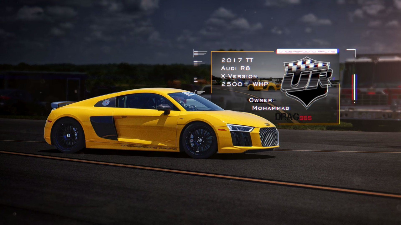 watch world 39 s fastest audi r8 reach 244 mph in a half mile. Black Bedroom Furniture Sets. Home Design Ideas