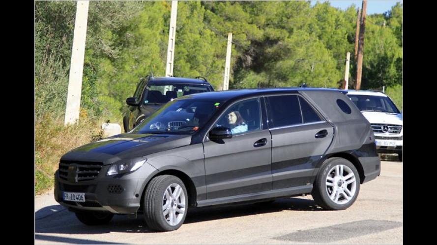 Erwischt: Neuer Mercedes ML auf Versuchsfahrt