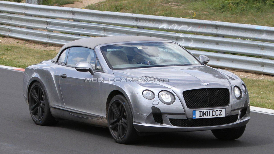 2012 Bentley Continental GTC facelift spied (Nürburgring)