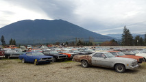 100s of vintage cars come with this land for sale in British Columbia