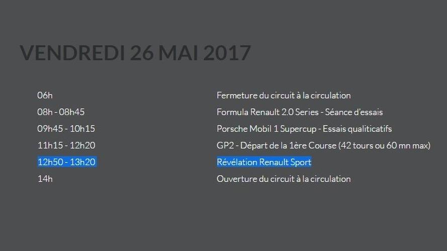 2018 Renault Megane RS muhtemel tanıtım