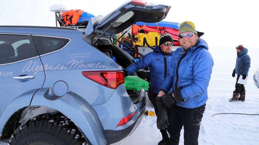 Hyundai Santa Fe on Antarctic expedition