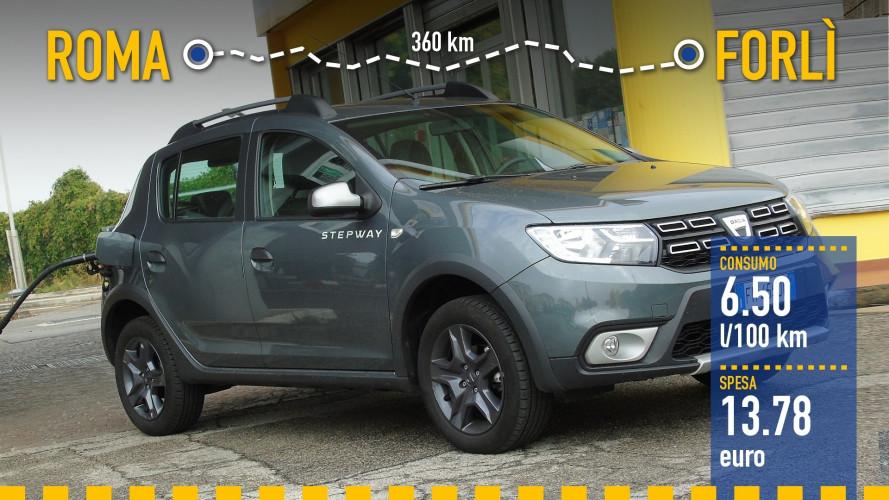 Dacia Sandero GPL, la prova dei consumi reali