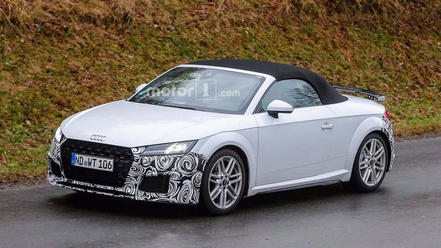 Audi TT Coupe, Roadster Facelift Spy Photos