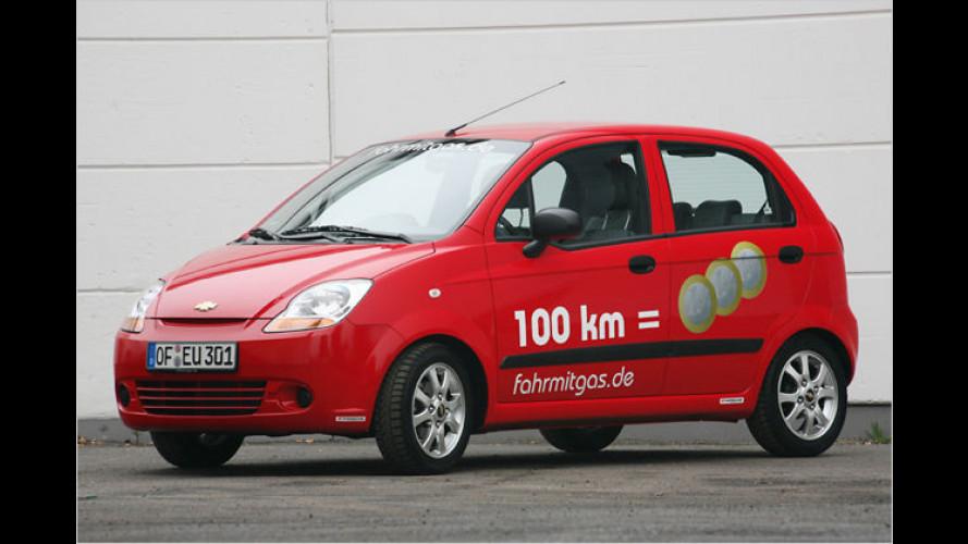 Das Drei-Euro-Auto: Autogas-Matiz mit Start-Stopp-System