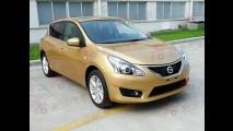 Novo Nissan Tiida 2012 é flagrado por completo sem camuflagem