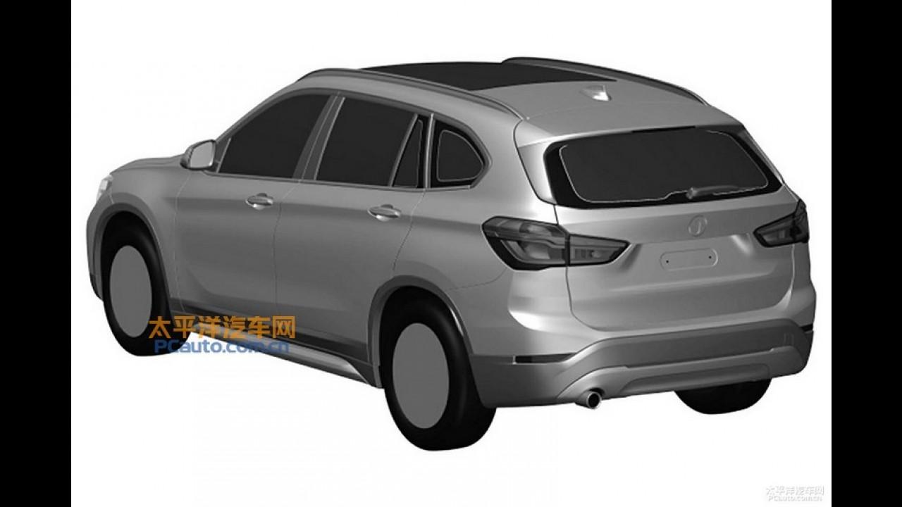 """Novo BMW X1 em versão """"esticada"""" aparece em imagens de patente"""