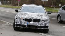 2016 BMW 5-Series sedan plug-in hybrid spy photo