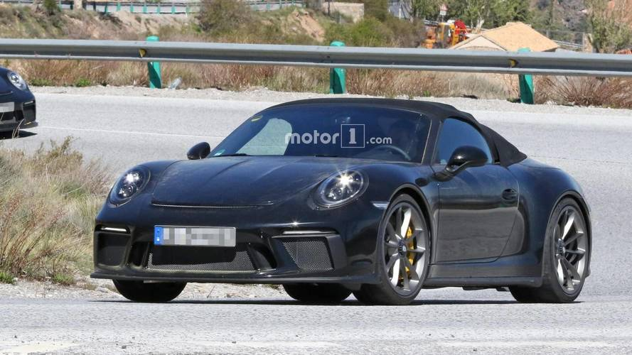 Photos espion - Porsche 911 type 991 Speedster