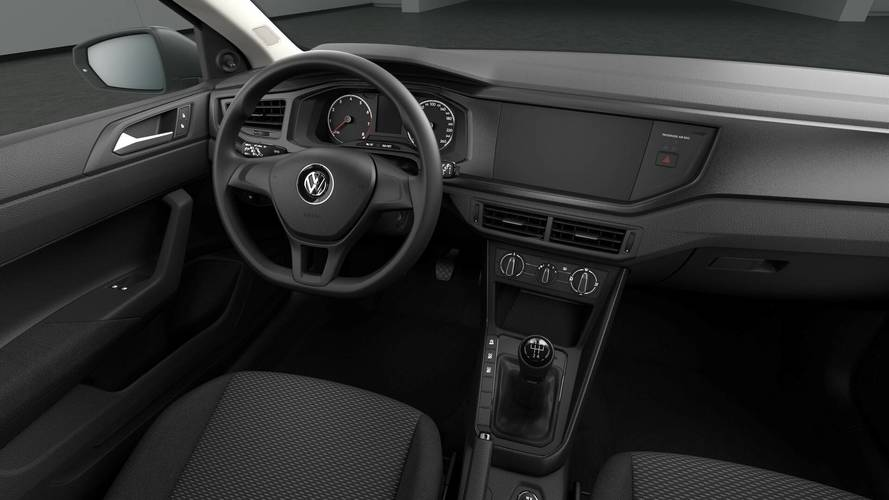 base vw polo in germany has a shockingly austere interior. Black Bedroom Furniture Sets. Home Design Ideas