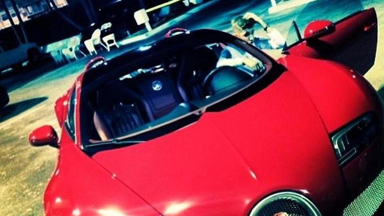 Justin Bieber with his new Bugatti Veyron Grand Sport
