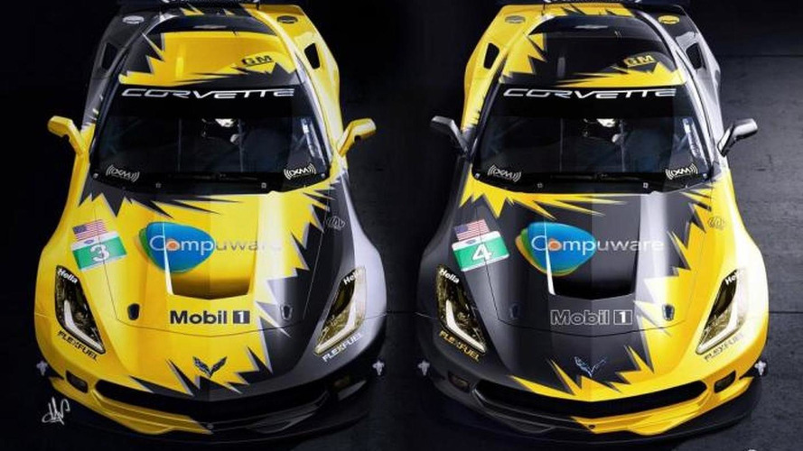 2014 Corvette C7.R rendered with two-tone livery