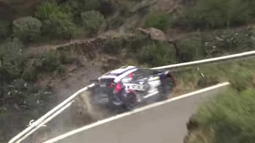 Video Shows Guardrail Preventing Potentially Fatal Rally Crash
