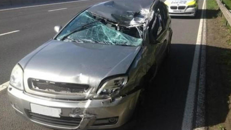 Man drives crashed car for more than 40 miles with up to 90 mph