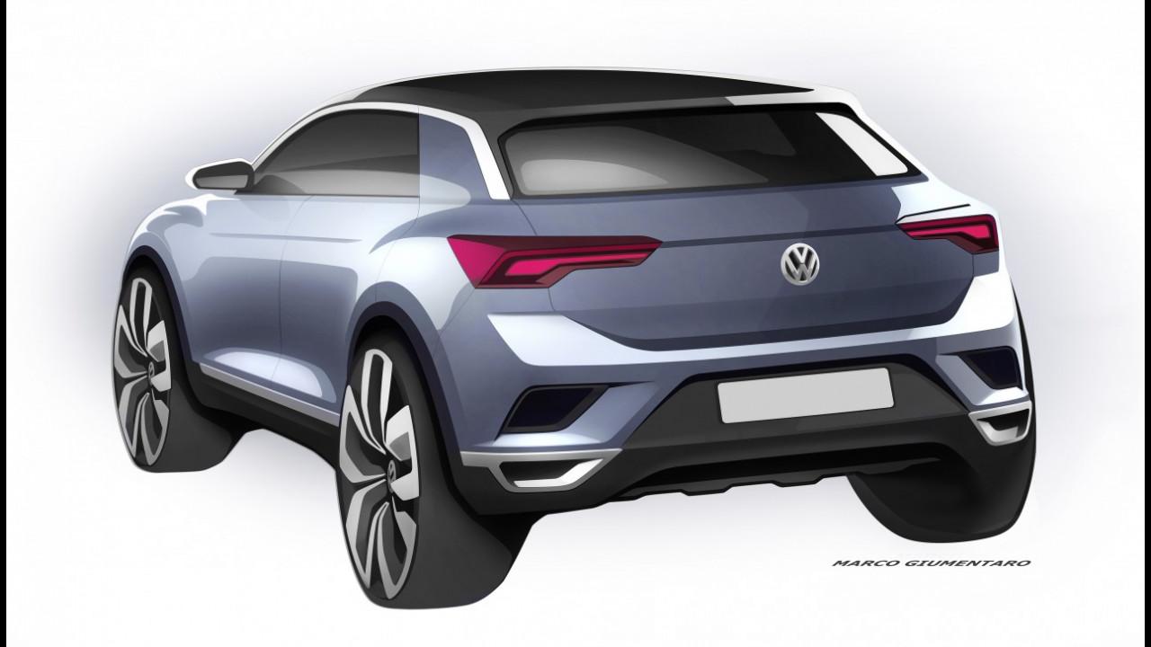 Volkswagen T-Roc, i bozzetti ufficiali