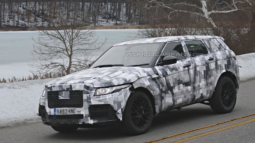 2016 Jaguar crossover spied wearing a Range Rover Evoque body