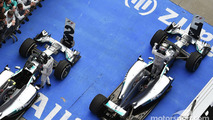 Race winner Lewis Hamilton, Mercedes AMG F1 W05 and team mate Nico Rosberg, Mercedes AMG F1 W05 celebrate in parc ferme