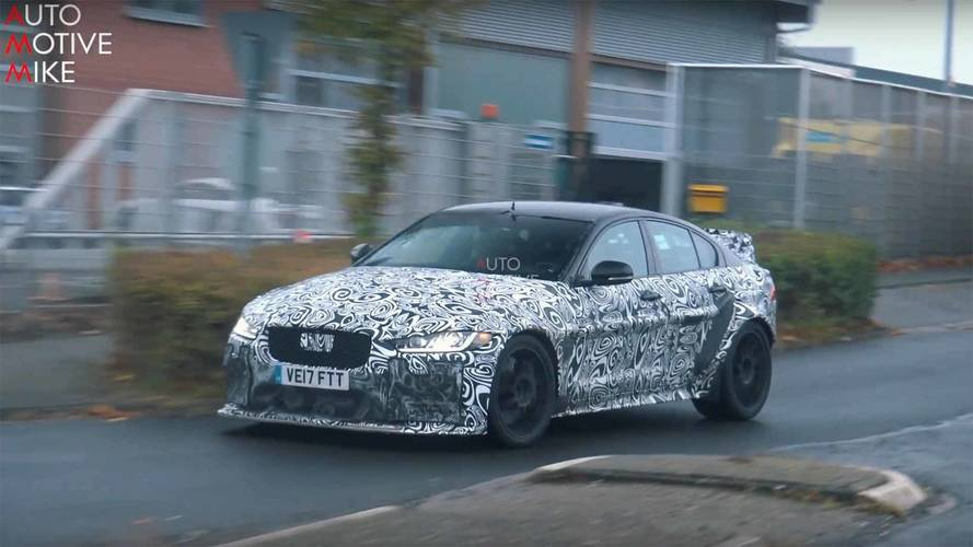 Jaguar Spied Perfecting The XE SV Project 8 At The Nurburgring
