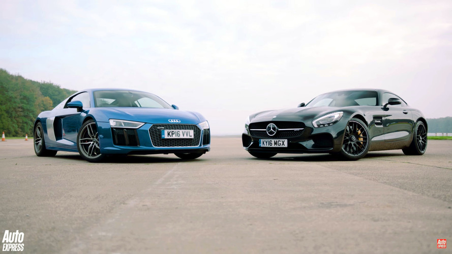 Mercedes-AMG GT S and Audi R8 V10 go head to head with surprising results