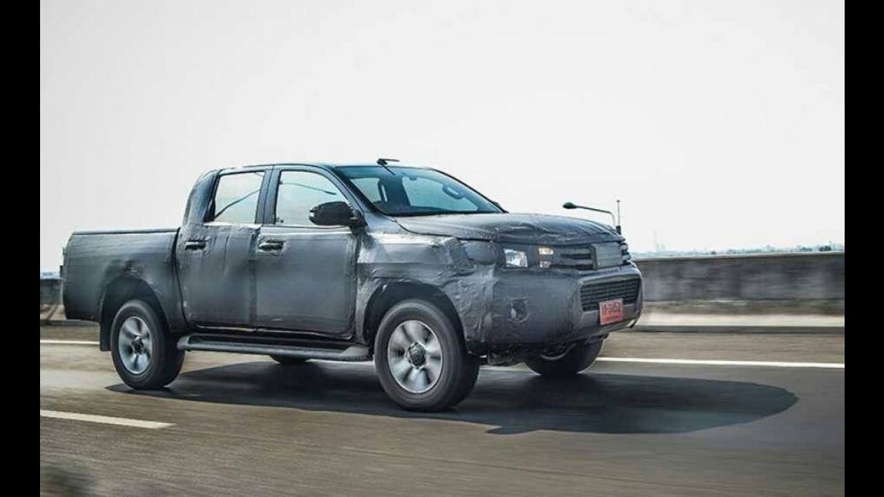 Nova Hilux 2016 terá motor 2.8 turbodiesel e frenagem autônoma