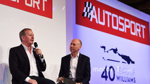 Martin Brundle with Toby Moody on the Autosport Stage