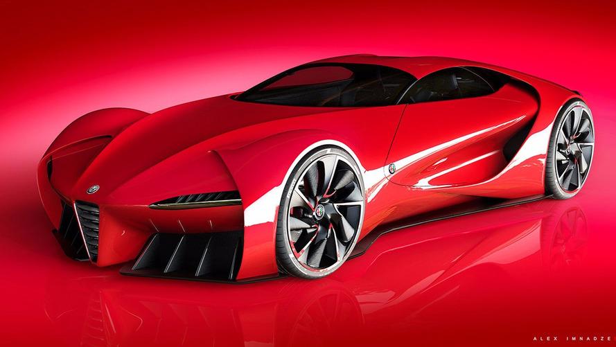 Alfa Romeo 6C konsepti modern bir Disco Volante'ye benziyor