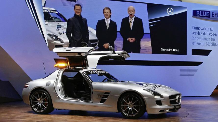 Schumacher & Rosberg Introduce Mercedes SLS F1 Safety Car [Video]