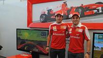 Felipe Massa, Fernando Alonso - Ferrari Virtual Academy, the first virtual simulator of the Scuderia Ferrari, 10.09.2010