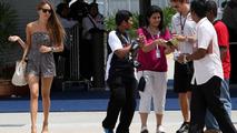 Jessica Michibata (JPN) girlfriend, Jenson Button (GBR), Malaysian Grand Prix, 04.04.2010 Kuala Lumpur, Malaysia