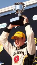 James Courtney celebrates after taking an emotional victory for Dick Johnson Racing - Event 13, Norton 360 Sandown Challenge, Sandown Raceway, Australian V8 Supercars Championship, 19-21.11.2010 Melbourne, Australia