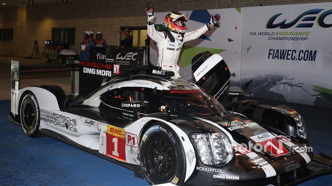 Race winners #1 Porsche Team Porsche 919 Hybrid- Timo Bernhard, Mark Webber, Brendon Hartley