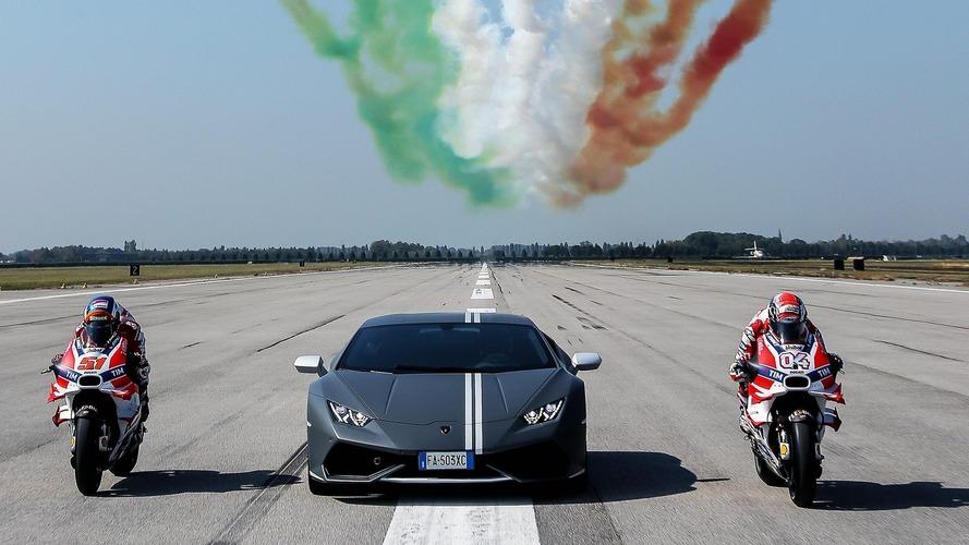 Lamborghini célèbre ses couleurs avec Ducati et l'aviation italienne