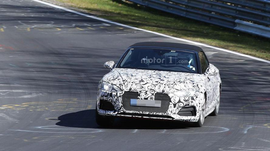 Audi S5 Cabrio filmed on the Nürburgring