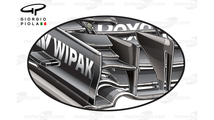 Williams FW38 front wing, Baku GP