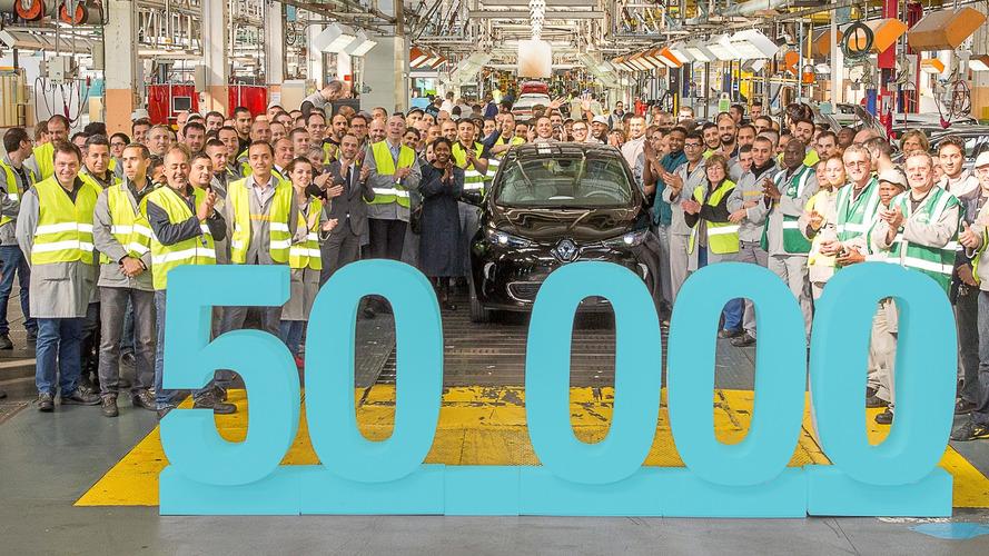 Renault produces 50,000th Zoe EV
