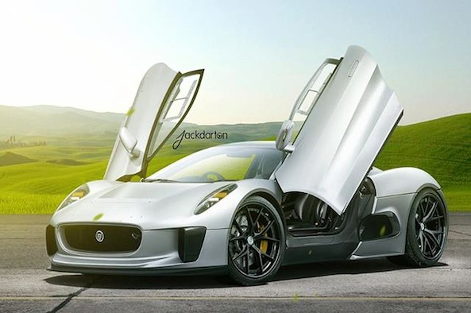 Jaguar C-X75 Gets Crafted Onto a Set of HRE Wheels