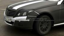 New 2010 Mercedes E-Class Clearest Spy Photos Yet