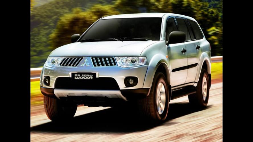 Versão de entrada do Mitsubishi Pajero Dakar ganha opção de câmbio automático