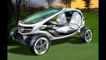 Vision Golf Cart, una concept che nasce per accompagnare gli affezionati della Stella anche sui campi da golf