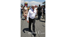 Bernie Ecclestone, on the grid