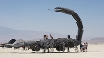 Flame-throwing Scorpion truck