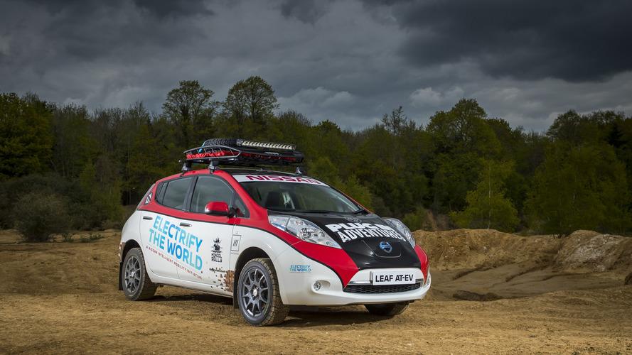 Egy elektromos Nissan Leaf is nekivág a Mongol ralinak