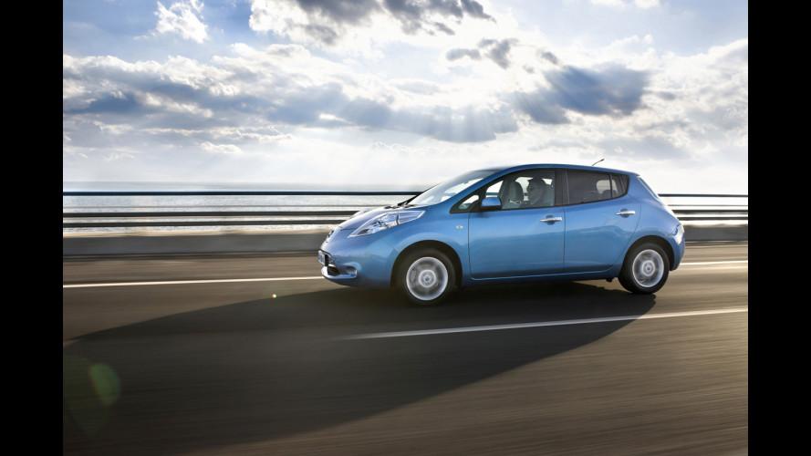 Con la Nissan Leaf cresce la ricarica pubblica