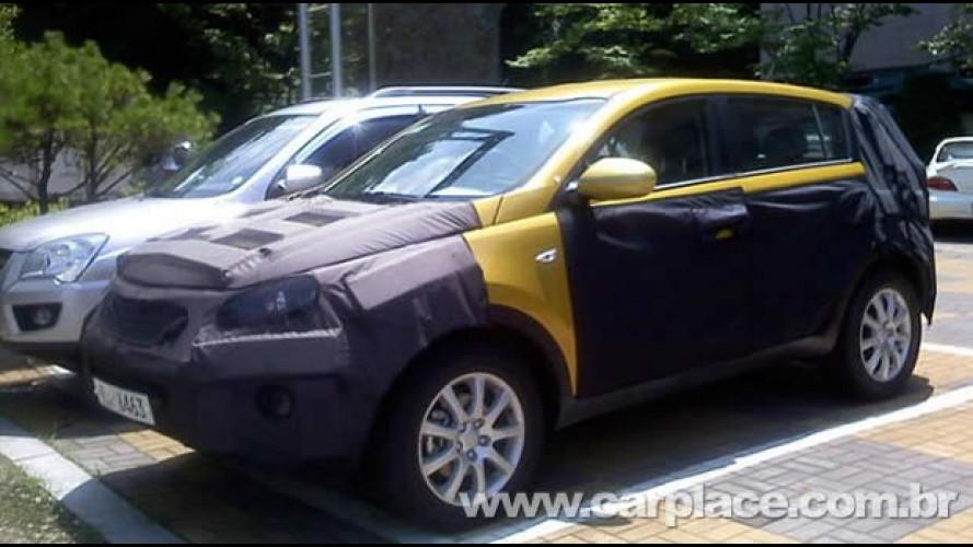 Novo Kia Sportage 2011 já está pronto - Nova geração já roda com disfarces na Coréia