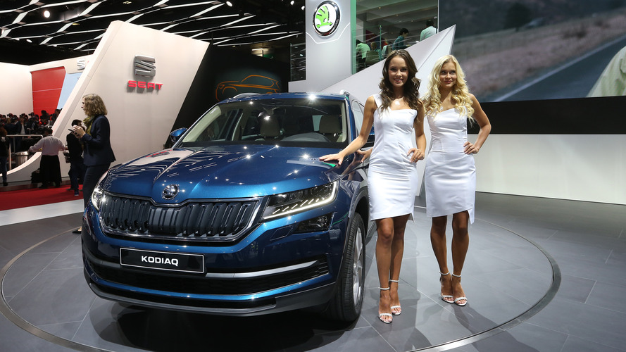 2017 skoda kodiaq paris motor show photos. Black Bedroom Furniture Sets. Home Design Ideas