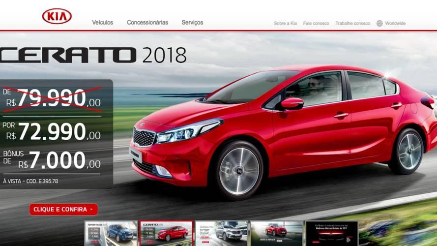 Kia oferece Cerato e Sportage com descontos de até R$ 7 mil