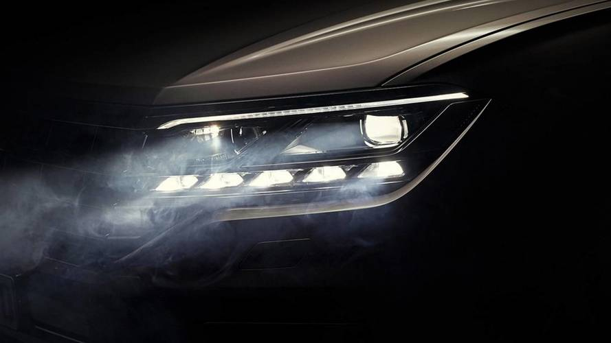 Volkswagen mostra design dos faróis full-LED do novo Touareg 2019