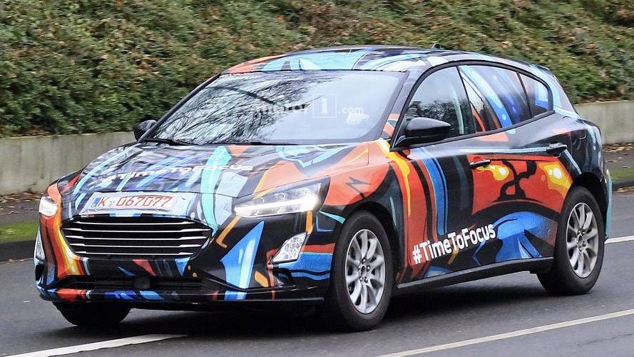 2019 Ford Focus Spied Up Close With Artsy Body Wrap