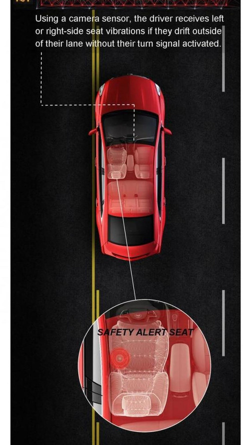 Cadillac XTS safety alert seat vibrates your bum [videos]