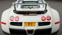 Bugatti Veyron with F1 license plate